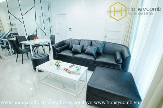2S34 www.honeycomb.vn 6 result The 2 bed serviced apartment with strong and masculine design at Distric 1