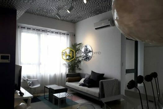 MTD1134 10 result Beautiful floral decorated 2 bedrooms apartment in Masteri Thao Dien for rent
