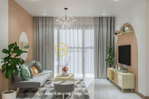 NN 22 Feeling new wave with Tropical Mediterranean design in this Sunwah Pearl apartment