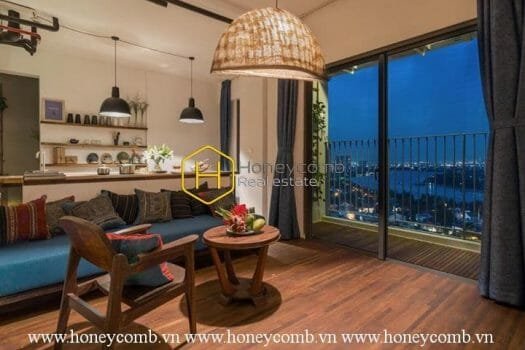 1 result 3 Fully furnished 2 beds apartment with cool colored design in Masteri Thao Dien