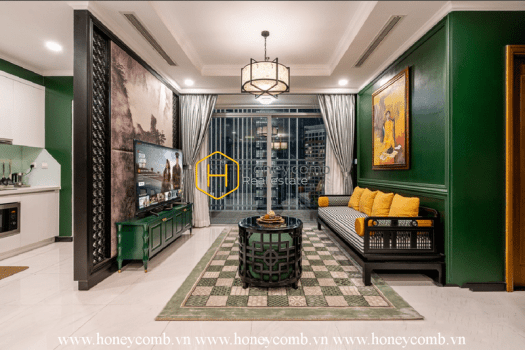 VH1773 5 result Beautiful apartment in Vinhomes Central Park with high-end interiors influenced by Indochine design.