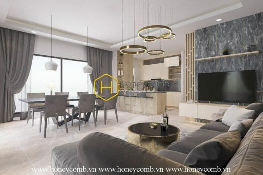 DI287 9 result Visit the apartment in Diamond Island with a trendy and splendid design