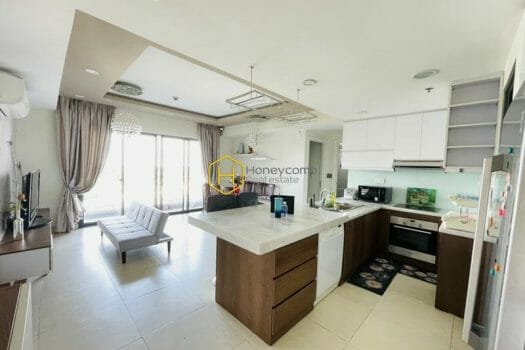 MTD2556 9 result A Masteri Thao Dien apartment with painted solid blue to fashion an endless space